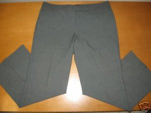 Womens THE LIMITED Gray Dress Pants CASSIDY FIT 12 S