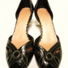 LIZ CLAIBORNE BUTTERYFLY BUTTON PEEPTOE SHOES HEELS 6.5