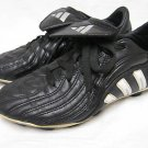 """Boys Black Leather ADIDAS """"Traxion"""" Cleats Shoes US 4"""