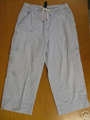 Womens RALPH LAUREN Cotton Capri Drawstring Pants 6
