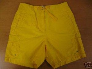 Womens Yellow RALPH LAUREN Bermuda Deck Shorts 12