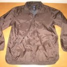 Womens Brown Zip Up GAP Windbreaker Jacket XS