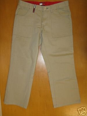 Womens Juniors TOMMY HILFIGER Khaki Capri Pants 5 EUC