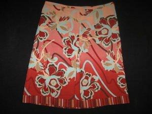 Pretty ANN TAYLOR A-Line Front Pleat Cotton Skirt 2