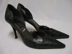 DONNA DI TOSCANA Italy Leather Stiletto Shoes Heels 8