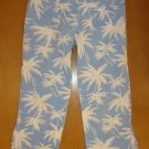 Girls ABERCROMBIE Palm Tree Capri Pants Size 14 Cute!