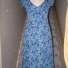 Pretty H&M H & M Blue Floral Feminine Ruffle Dress 8