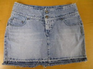 ~Adorable SILVER Brand from BUCKLE Denim Jean Skirt 28~