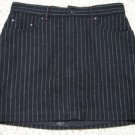 Black Wool Pinstripe GAP A-Line Skirt 8