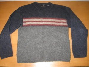 Mens AMERICAN EAGLE Striped Wool Sweater Medium M