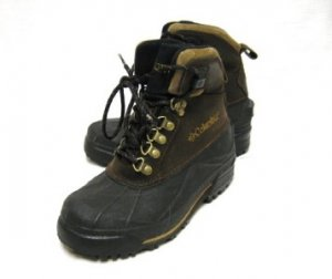YOUTH LEATHER COLUMBIA BUGABOOTOO WINTER SNOW BOOTS 4