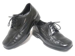 Black Leather MEPHISTO MOBILS Oxfords Shoes 7 EUC!