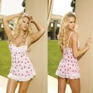 Island Collection Heart Printed Mesh Baby Doll Sizes 1X-3X