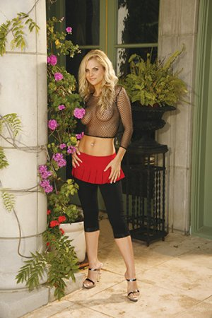 Red Mini Skirt with Pleats Sizes S-L