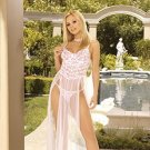 Secret Dreams Collection White/Pink Embellished Gown Sizes 1X-3X