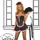 Sexy Maid 5 Piece Costume Black Sizes S-XL