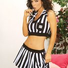 Naughty Referee 3 Piece Costume Black/White Sizes S-L