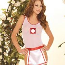Sexy Nurse 3 Piece Costume White One Size Fits All