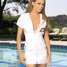 Vinyl Nurse Costume White Sizes 1X-3X