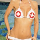 Vinyl 4 Piece Nurse Costume White One Size Fits All