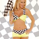 Sexy Race Car Driver Costume Yellow Sizes S-L