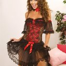Flamenco Dancer Costume Black Sizes S-XL