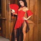 Senorita 4 Piece Costume Red Sizes S-XL