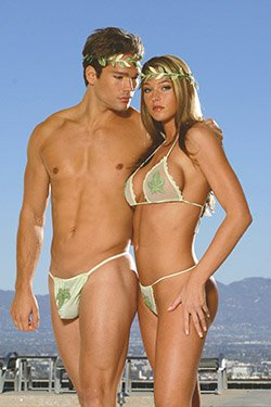 Paradise Island for Him Costume Green One Size Fits All