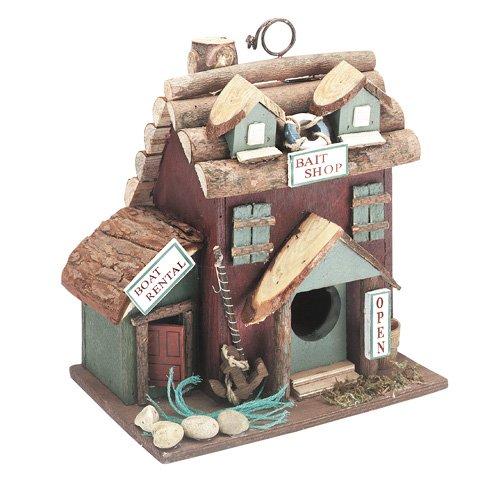 """30207 Wood Log """"bait"""" Birdhouse"""