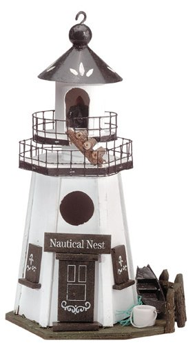 30208 Wood Lighthouse Birdhouse