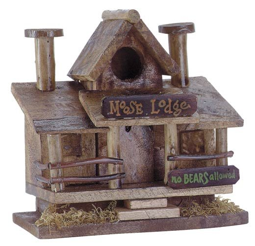 30659 Moose Lodge Wood Birdhouse
