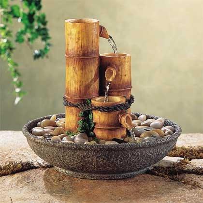 31027 Alabastrite Bamboo Water Fountain