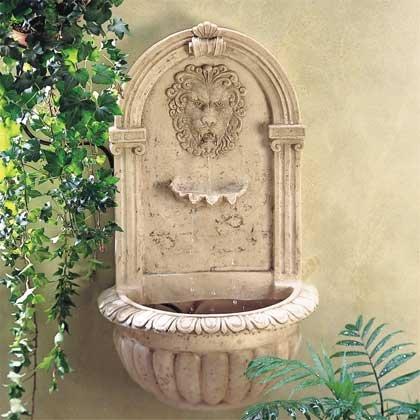 32428 Lion Wall Fountain