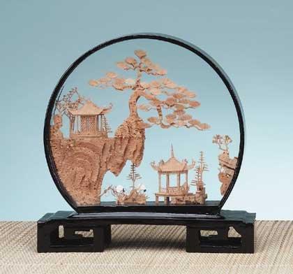 21340 Round Case Cork Sculpture