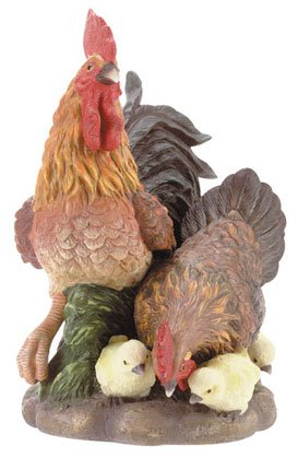 31331 Porcelain Rooster Family
