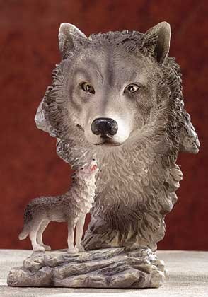 31405 Alabastrite Timber Wolf With Big Head View