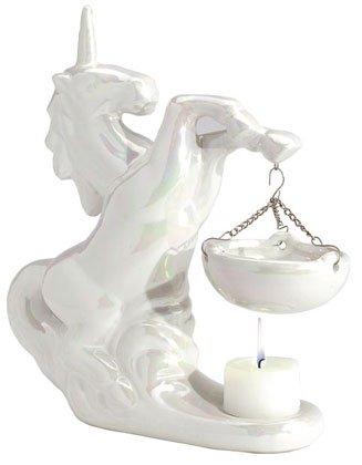 30126 Porcelain Oil Burner - Pearlized Unicorn