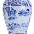 30691 Oriental Vase - Blue & White