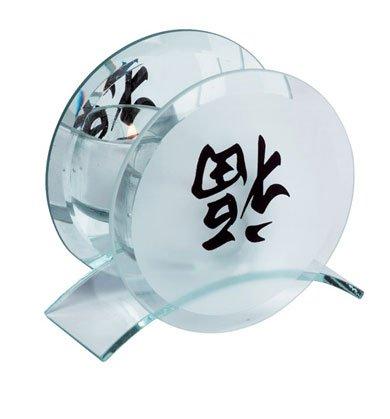 30789 Mirrored Candleholder - Good Luck