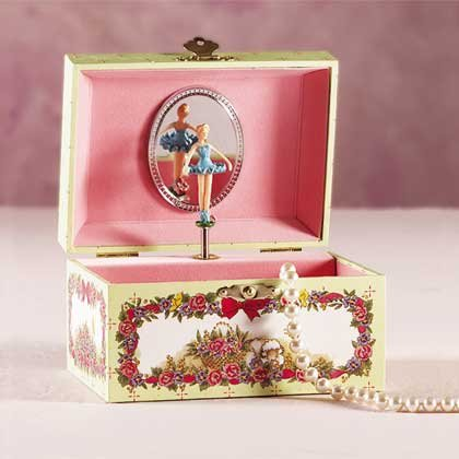 27266 Paper Musical Jewelry Box