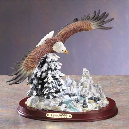31056 Alabastrite Eagle Over Snowy Mountain