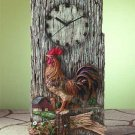 31416 Alabastrite Rooster Wall Clock