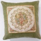 35509 Green Floral Cushion