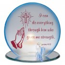 35567 Prayer of Strength Candleholder