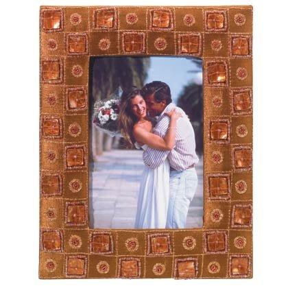 35553 Brown Satin Photo Frame