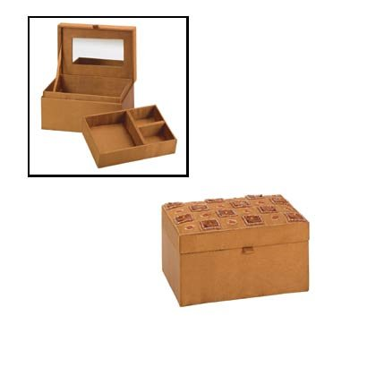 35554 Brown Satin Jewelry Box