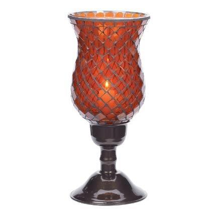 35621 Amber Mosaic Candleholders