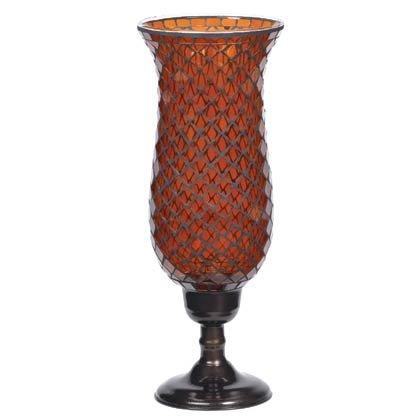 35623 Tall Amber Mosaic Candleholder