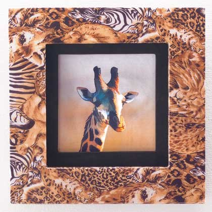 35695 Safari Framed Giraffe