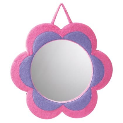 35736 Plush Flower Mirror